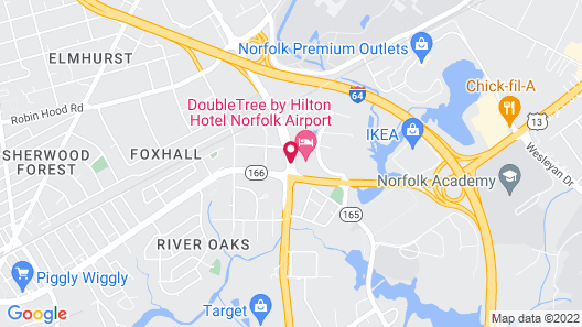 Doubletree by Hilton Hotel Norfolk Airport Map