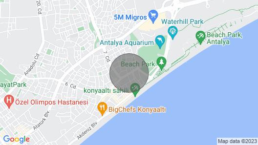 Konyaalt? da Denize S?f?r Elit Prestij Otel Map
