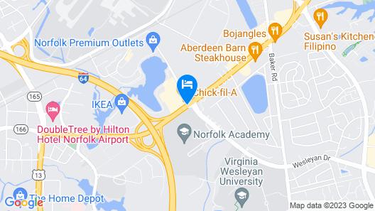 Sleep Inn Lake Wright - Norfolk Airport Map