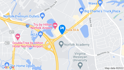 Quality Suites Lake Wright - Norfolk Airport Map