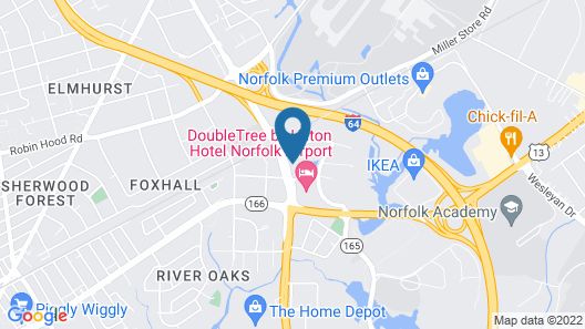 Delta Hotels by Marriott Norfolk Airport Map