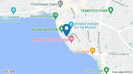 Perge Hotels Map