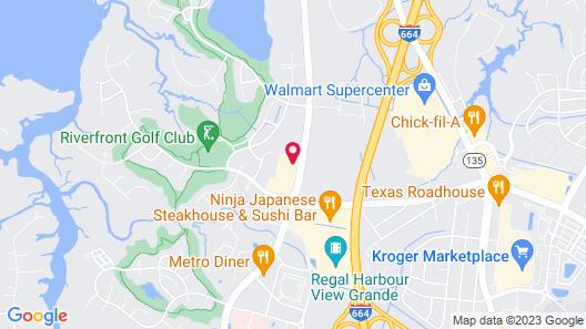 Hilton Garden Inn Chesapeake/Suffolk Map