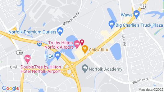 Tru By Hilton Norfolk Airport Map