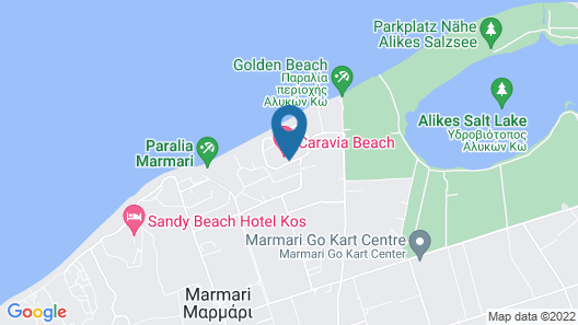 Caravia Beach Hotel & Bungalows - All Inclusive Map