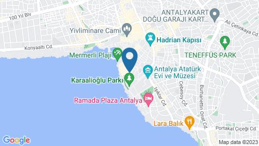 Kaleici Efsali Hotel Map