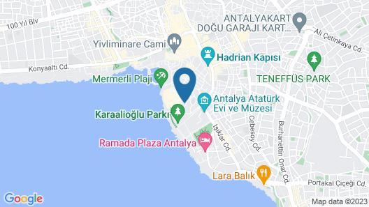 Lazer Pension Kaleici Map