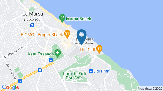 Dar Corniche La Marsa - Adults Only Map