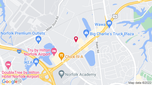 Comfort Inn & Suites Virginia Beach - Norfolk Airport Map