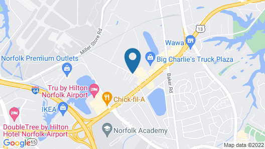 Comfort Inn & Suites Virginia Beach - Norfolk Airport Map