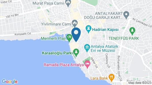 Konak Hotel Kaleici Map