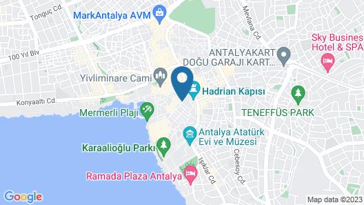 Ozkavak Hotel Kaleici Map