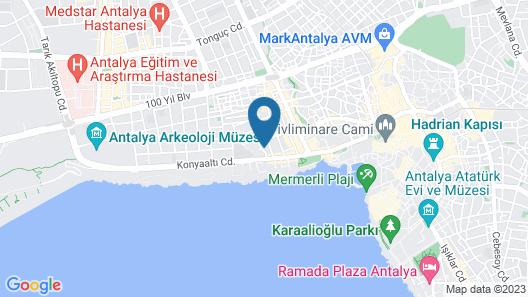 Avrasya Hostel Pansiyon Antalya Map