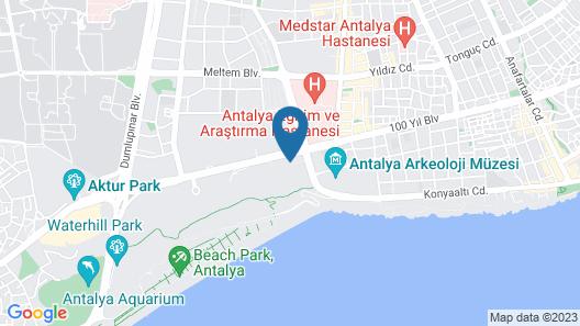 Özkaymak Falez Hotel Map
