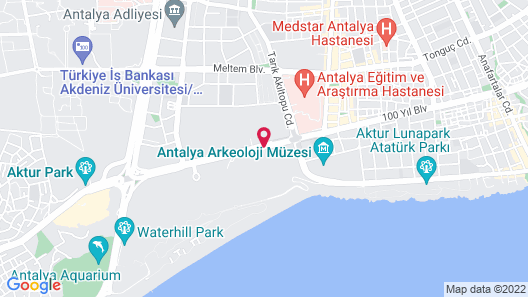 Rixos Downtown Antalya All Inclusive - The Land of Legends Access  Map