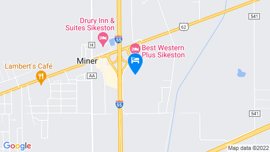 Days Inn and Suites by Wyndham Sikeston Map