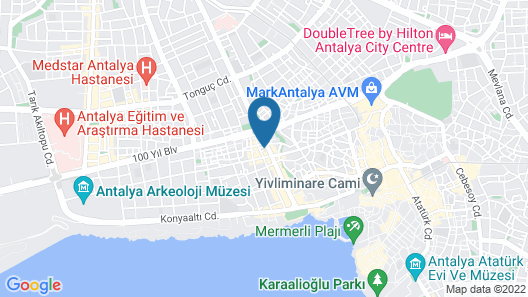 Old Town Point Hotel & Spa Antalya Map