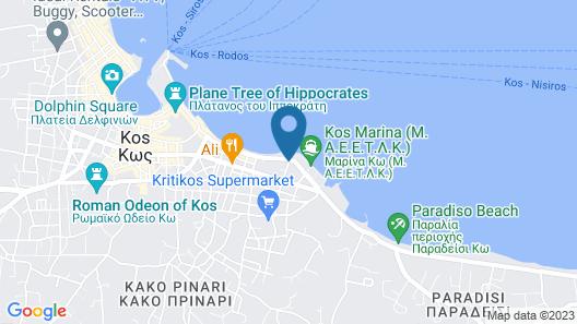 Kos Hotel Junior Suites Map
