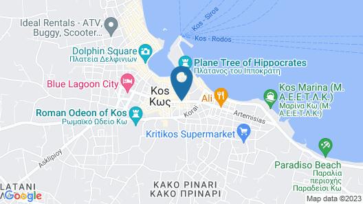 Maritina Hotel Map