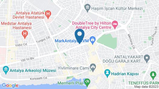 Mostar Hotel Map
