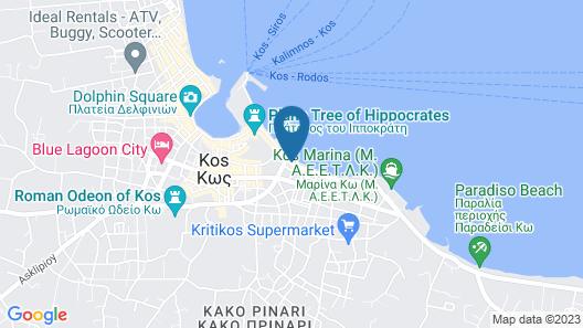 Kos Aktis Art Hotel Map