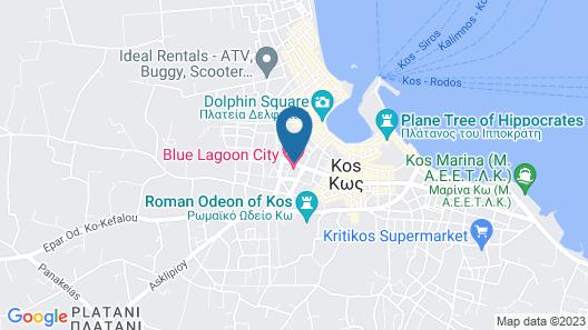 Blue Lagoon City Hotel Map