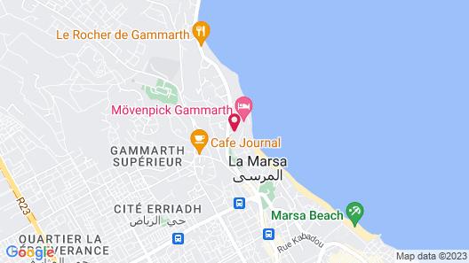 Movenpick Hotel Gammarth Tunis Map