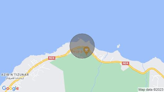Résidence du cap Bejaia Map