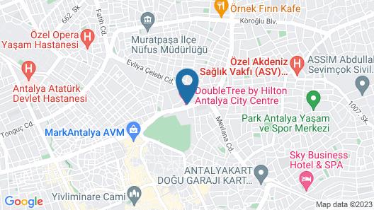 DoubleTree By Hilton Antalya City Centre Map