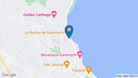 Hotel La Tour Blanche Map