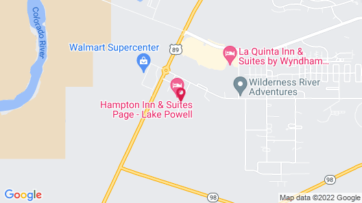 Hampton Inn & Suites Page - Lake Powell Map