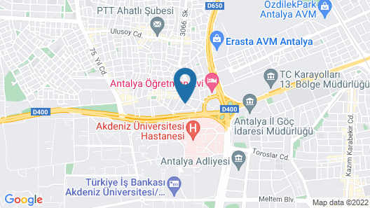 Akca Apart Otel Map
