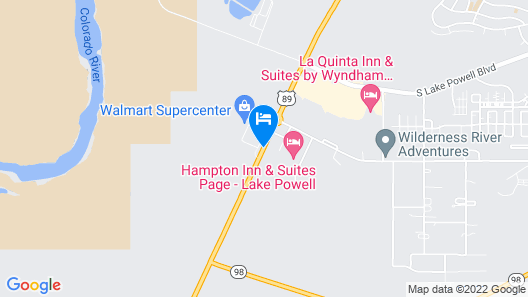 Days Inn & Suites by Wyndham Page Lake Powell Map