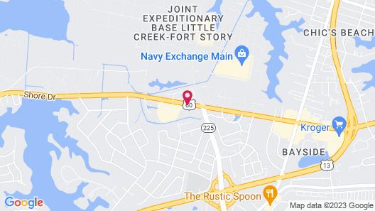Howard Johnson by Wyndham Virginia Beach Map