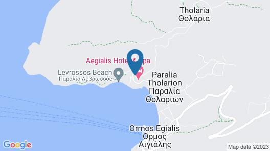 Aegialis Hotel & Spa Map