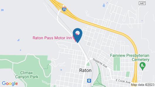 Raton Pass Motor Inn Map