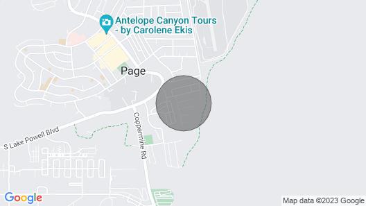 Family friendly Home Close to Lake Powell, Antelope Canyon & Horseshoe Bend Map