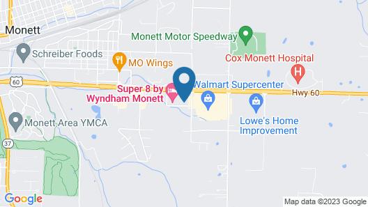 Super 8 by Wyndham Monett Map