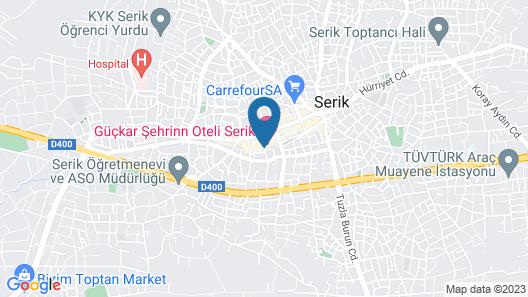 Guckar Sehrinn Oteli Serik Map