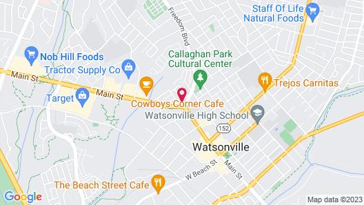 National 9 Motel Map
