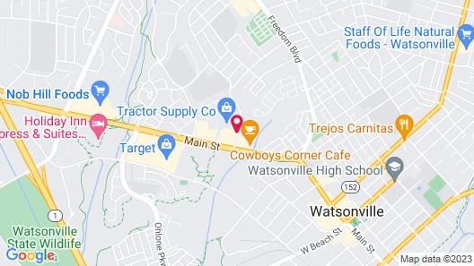 Economy Inn Watsonville Map