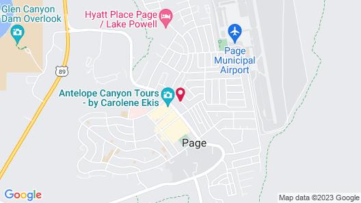 Antelope Canyon Inn Map