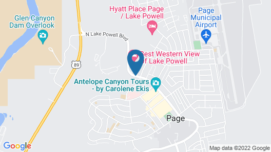 Best Western Plus At Lake Powell Map
