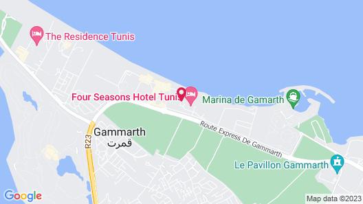 Four Seasons Hotel Tunis Map