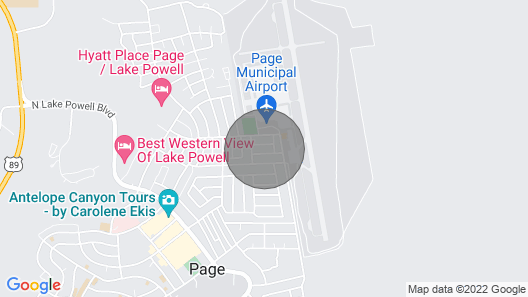Page Getaway w/ Patio: 8 Minutes to Lake Powell! Map