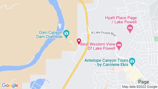 Sleep Inn & Suites Page at Lake Powell Map