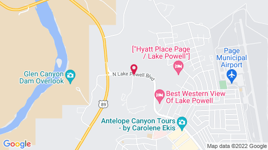 Courtyard by Marriott Lake Powell Map