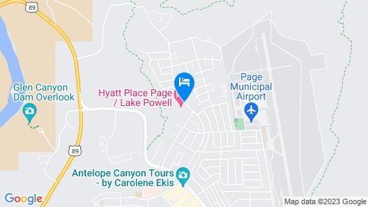 Hyatt Place Page Lake Powell Map