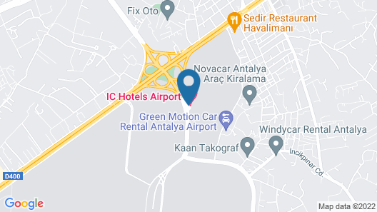 IC Hotels Airport Map