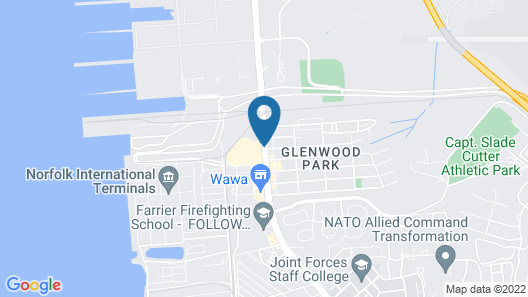 Hampton Inn Norfolk Naval Base Map